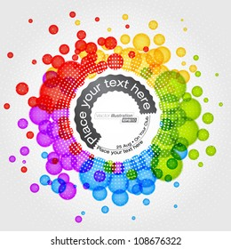 Abstracts rounded bubbles background