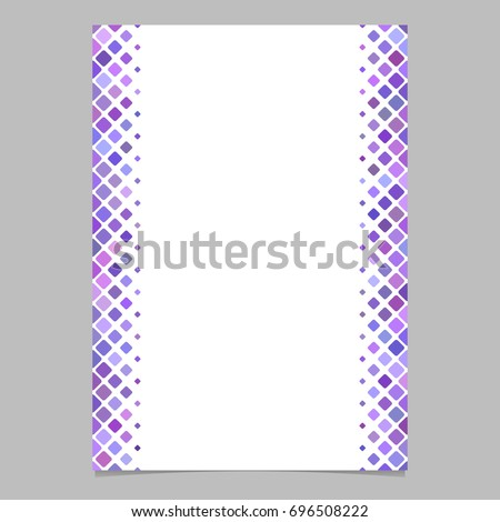 Abstracvt Brochure Border Template Purple Diagonal Stock Vector