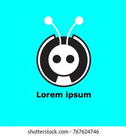 Abstrakt modern ant icon for logo and phone