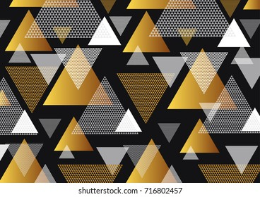 Abstraktion mosaic of triangles, background for postcard. Vector illustration