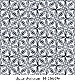 Abstrat floral vector pattern. Tiled flowers background. Illustration for wrapping paper, textile design. Decorative seamless pattern