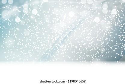 Abstrat Winter Snow Blue Background Vector Illustration EPS10