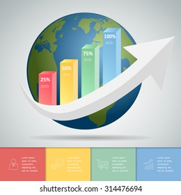 Abstrct business infographic template