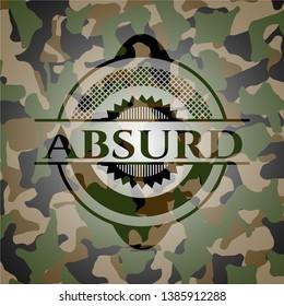 Absurd camouflage emblem. Vector Illustration. Detailed.