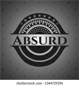 Absurd dark emblem. Retro