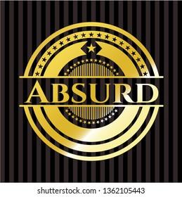 Absurd gold badge or emblem
