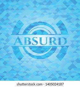 Absurd light blue mosaic emblem