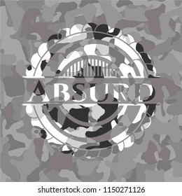 Absurd on grey camouflage pattern