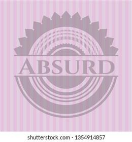 Absurd pink emblem. Retro