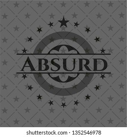 Absurd retro style black emblem
