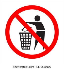 the absurd sign; litter up!