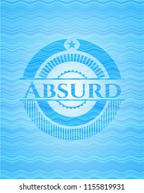 Absurd water representation style badge.