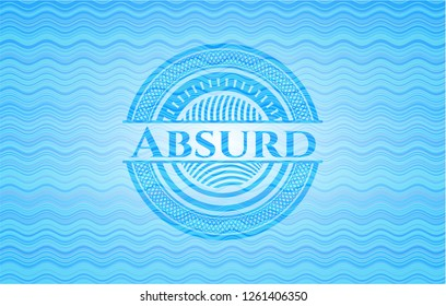 Absurd water style badge.