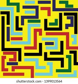 Abtract background geometric shape. Illustration flat shape design.