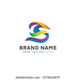 Abtract colorful Logo Template. Vector illustration