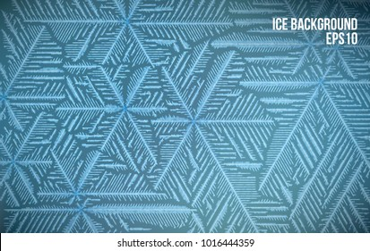 Abtract ice pattern. Vector snow background. Line style frost winter pattern