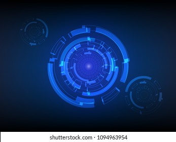 Abtract Technology background, cyber security concept, Sci fi futuristic background, Vector illustration.