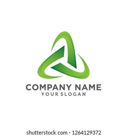 Abtract Triangle logo template white background