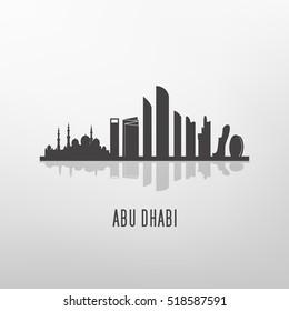 Abu dhabi  architecture skyline  silhouette
