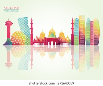 Abu Dhabi skyline. vector illustration