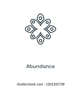Abundance concept line icon. Linear Abundance concept outline symbol design. This simple element illustration can be used for web and mobile UI/UX.