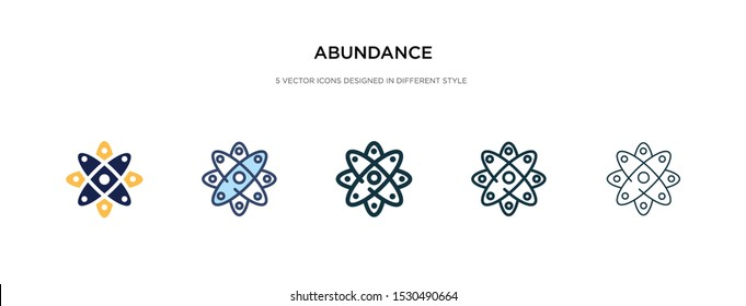 abundance icon in different style vector illustration. two colored and black abundance vector icons designed in filled, outline, line and stroke style can be used for web, mobile, ui