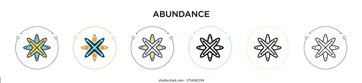 Abundance icon in filled, thin line, outline and stroke style. Vector illustration of two colored and black abundance vector icons designs can be used for mobile, ui, web
