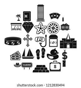 Abundance icons set. Simple set of 25 abundance vector icons for web isolated on white background