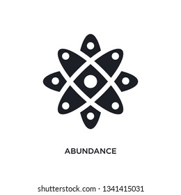 abundance isolated icon. simple element illustration from zodiac concept icons. abundance editable logo sign symbol design on white background. can be use for web and mobile