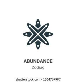 Abundance vector icon on white background. Flat vector abundance icon symbol sign from modern zodiac collection for mobile concept and web apps design.
