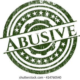 Abusive rubber grunge texture stamp