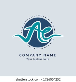 Ac A c Monogram Handwriting Font of the initial flat logo, fashion, boutique, geometric, botanical, wedding, with a memorable, bright design for any company or business