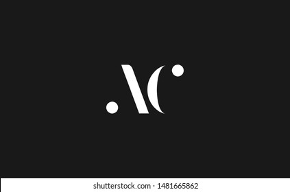 AC, CA Letter Logo Design with Creative Modern Trendy Typography