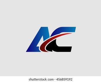 AC company group linked letter logo