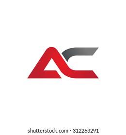 AC company linked letter logo