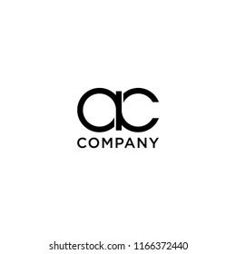 ac company logo black and white
