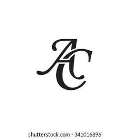 AC initial monogram logo