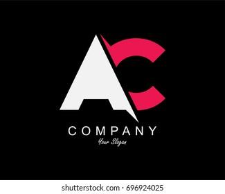 AC Letter Logo Design Template Element
