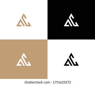 ac logo design vector format