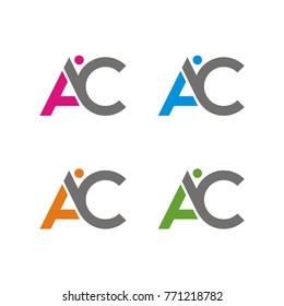 AC logo initial letter design template vector illustration