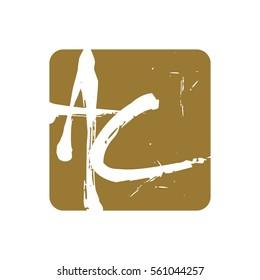 a,c,ac letter logo