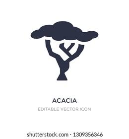 acacia icon on white background. Simple element illustration from Nature concept. acacia icon symbol design.