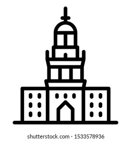 Academic, dartmouth college building Isolated Vector Icon which can be easily modified or edit