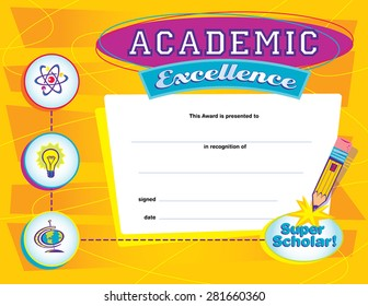 Academic Excellence Certificate Orange