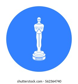 Academy award icon in black style isolated on white background. Films and cinema symbol stock vector illustration.