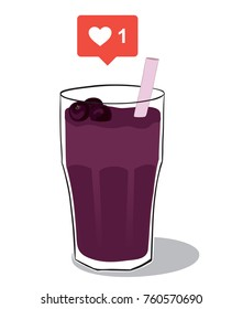 Acai Crush - Acai fruit juice liked on social media
