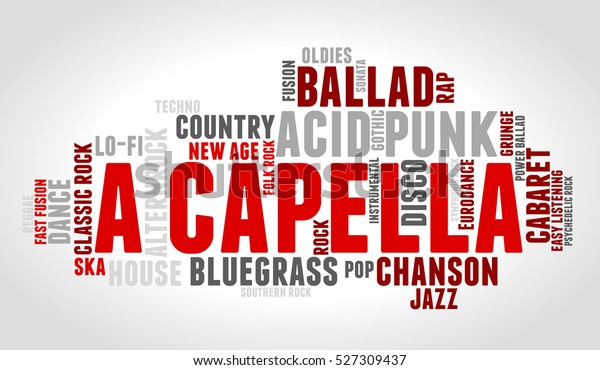 Acapella Word Cloud Type Font Gradient Stock Vector (Royalty Free