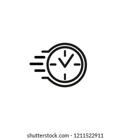 Accelerated time line icon. Deadline, countdown, task time. Fast time concept. Vector illustration can be used for topics like business, management, development