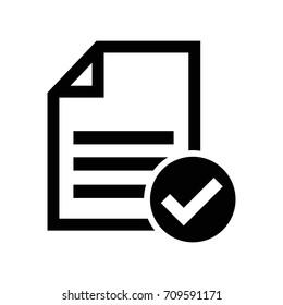 accept file or checklist symbol icon
