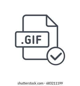 Accept file format line vector gif